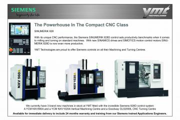 Siemens Control Milling and Turning Machines Now At YMT