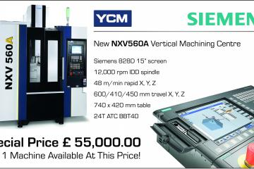 Incredible Offer On YCM NXV 560 Siemens 828D Machining Centre